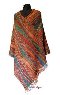 Shawl Patterns, Knitting Patterns, Aboriginal Patterns, Ombre Yarn, Lake Decor, Knitted Shawls, Plaid Scarf, Free Crochet, Free Pattern