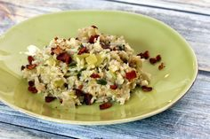 Green tomato rice is a delicious rice dish to serve with pork or beef roast and it's a great way to use those late-season green tomatoes. Quick Bread Recipes, Rice Recipes, Side Dish Recipes, Vegetable Recipes, Great Recipes, Cooking Recipes, Favorite Recipes, Cooking Ideas, Delicious Recipes
