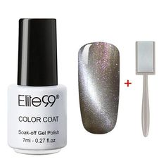Elite99 Cat Eye UV Gelpolish Soak off Decals Nail Manicure Art lasting Gel Lacquer With Sticker Pick 1 Color With 1 Magnet