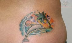 Only the best free Dolphin Women Tattoos tattoo's you can find online! Dolphin Women Tattoos tattoo's to print off and take to your tattoo artist. Tattoos For Women Flowers, Foot Tattoos For Women, Flower Tattoos, Elegant Tattoos, Trendy Tattoos, Mom Tattoos, Sleeve Tattoos, Tatoos, Beach Theme Tattoos