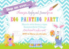 EGG PAINTING PARTY  Easter invitation  You by PrettyPartyCreations, $11.50
