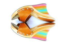 #Vintage #Rainbow #Wedges