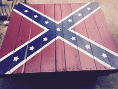 Rebel flag pallet table.