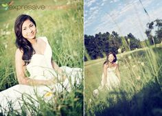 Bridal shoot in the field.  by Expressive Moments Photography