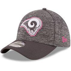 san francisco c9f49 16241 Men s Los Angeles Rams New Era Heather Gray 2016 Breast Cancer Awareness  Sideline 39THIRTY Flex Hat