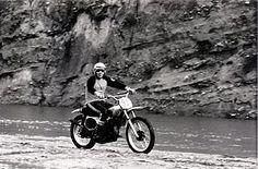 McQueen on his Honda CR250M Elsinore dirt bike, June 8, 1974