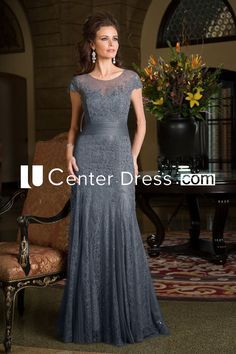 $145.79-Elegant Long Mermaid Grey Mother Of The Bride Dress With Sleeves. http://www.ucenterdress.com/cap-sleeved-long-mermaid-mother-of-the-bride-dress-with-pleats-and-appliques-pMK_301050.html.  Tailor Made mother of the groom dress/ mother of the brides dress at #UcenterDress. We offer a amazing collection of 800+ Mother of the Groom dresses so you can look your best on your daughter's or son's special day. Low Prices, Free Shipping. #motherdress