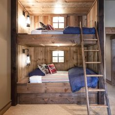 RUSTIC BEDROOM DESIGN IDEAS - Locate your favored bedroom pictures below. Check out images of motivating bedroom design ideas to create your perfect house. Rustic Bunk Beds, Modern Bunk Beds, Rustic Bedrooms, Modern Bedroom, Loft Beds, Contemporary Bedroom, Trendy Bedroom, Trundle Bunk Beds, Farmhouse Bunk Beds