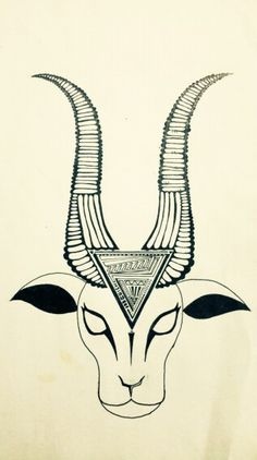 Goat is goat □■□ #art #original #tattoo #ink #goat #doodle #wallpaper