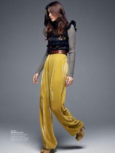 ☆Top & heels by FENDI ☆Sweater by JILL STUART ☆Trousers by CELINE