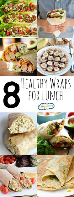 Are your kids tired of having sandwiches? Shake things up with these 8 healthy wraps for school lunch! Filling, nutritious, and super tasty.