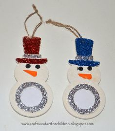 Snowman Ornament Kids Craft (from Crafts 'n' Things for Children)