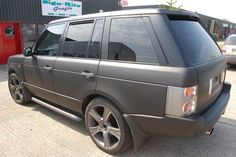 This Range Rover was silver before we wrapped it in Matt black.