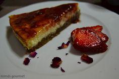 Tarta de queso con mermelada de fresa Mimes