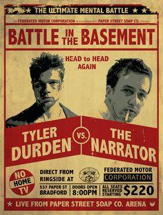 Fight Club Fight Poster Art Print by Jon Hernandez