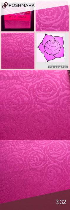Betsey Johnson Pink Rose Embossed TWIN Sheets NWT Betsey Johnson Flamingo Pink Rose Embossed 3-Piece TWIN sheet set - includes flat sheet, fitted sheet and 1 standard pillowcase.  Brilliant flamingo pink background paired with Embossed rose design.  100% Polyester Microfiber- Machine Washable Betsey Johnson Other