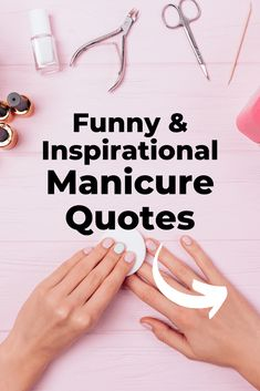 The ulimate list of nail quotes images. Funny nail quotes, pedicure quotes, manicure quotes and nail polish quotes. Nail puns and saying that are perfect for captions, business cards, and websites. Manicure Quotes, Nail Polish Quotes, Nail Quotes, Nail Manicure, Manicures, Cosmetology Quotes, Salon Quotes, Nail Salon Design, Nail Salon Decor