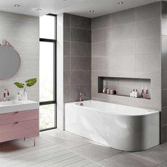 Contemporary Baths, Modern Baths, Bathroom Trends, Bathroom Sets, Simple Bathroom, Modern Bathroom, Back To Wall Bath, Shower Fittings, Bath Panel