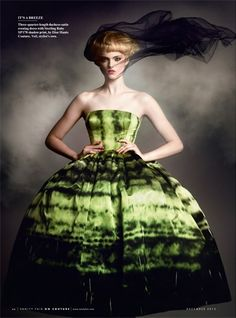 Maaike Klaasen in Dior by Raf Simons. Photo by Kristian Schuller for Vanity Fair Dec 2012.