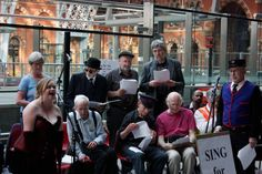 Sing for Joy Bloomsbury singing at St Pancras