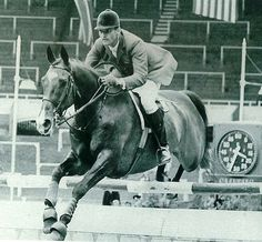 Snowbound & Bill Steinkraus..Bob and I admired him so much. We had his book. Olympian..beautiful shot here..horse with ears up, gazing forward..noting time clock in the background!
