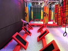 Urban Air Trampoline and Adventure Park in Phoenix - Phoenix With Kids Swimming Pool Slides, Swimming Pools, Trampoline Room, Phoenix With Kids, Gameroom Ideas, Exhibition Plan, Backyard Obstacle Course, Creative Kids Rooms, Dream Dates