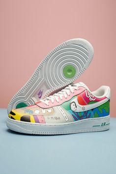 Artist Ruohan Wang's collaboration with Nike allows you to do a bit of good while looking good at the same time. All of the designs in the collection, including the Air Force 1 Low Flyleather, feature abstract artwork on up to 50% recycled leather panels. Air Force Ones, Air Force 1, Nike Air Force, Recycled Leather, Happy Memorial Day, S Signature, Air Max 90, White Leather, Collaboration