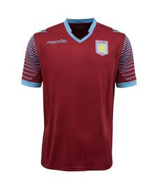 Aston Villa Warm Up Top 2014 – 2015 is very similar to the home soccer jersey but not as costly and part of the Aston Villa training kit range http://www.soccerbox.com/18402