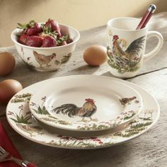 16-Piece Southern Rooster Dinnerware Set