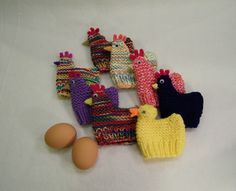 Ravelry: Chicken and Duck Egg Cozies (Easter) pattern by Claudia Lowman Knitted Flower Pattern, Octopus Crochet Pattern, Knitted Flowers, Flower Patterns, Baby Hat Knitting Patterns Free, Animal Knitting Patterns, Free Pattern, Crochet Patterns, Duck Crafts