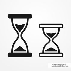 Hourglass icons, free vector infographics
