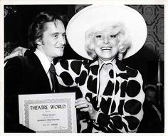 Vintage 1971 Michael Douglas Carol Channing Theatre World Awards Candid Photo
