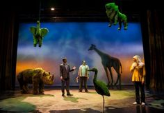 Scenic design by Dan Ostling, lighting by Christine Binder. Bengal Tiger at the Baghdad Zoo at Lookingglass Theatre in Chicago