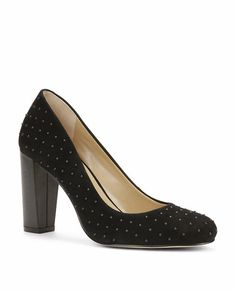 NEVE STUDDED SUEDE HEELS Ann Taylor