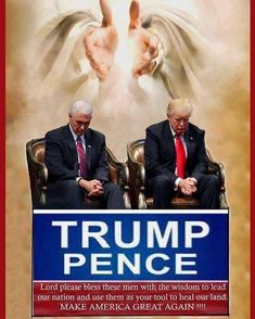 God Bless America and President Trump and VP Pence-they are guided by His Will! Pray For America, God Bless America, Pro Trump, Vote Trump, Trump Is My President, Vice President, Greatest Presidents, American Presidents, Fear Of The Lord