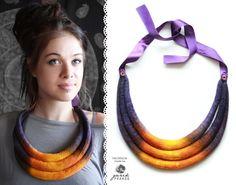 FB: https://www.facebook.com/GuzikPrawda.handmade  #handmade #dreads #felting #felt #necklace #indpirations #purple #honey