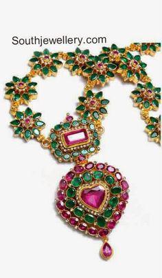 ruby emerald gemstone necklace models