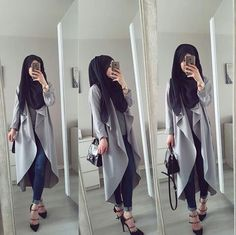 Modern Hijab Fashion, Hijab Fashion Inspiration, Arab Fashion, Muslim Fashion, Modest Fashion, Fashion Outfits, Fashion Women, Casual Hijab Outfit, Hijab Chic