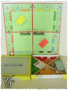 Vintage Brettspiele - Monopoly Spiel 50er 60er - Silber Edition - Von Vintageschippie bei DaWanda.