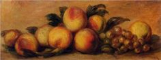 Still Life with Peaches and Grapes - Pierre-Auguste Renoir