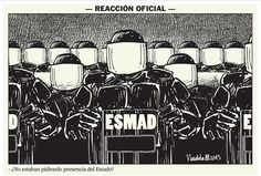 Esta es la presencia del #estado en el #ParoNacional   Por Vladdo   #Policías #antidisturbios #antimotines #Esmad  #GobiernoCorrupto #JusticiaSocial #Manifestantes #Paro #Campesinos #ParoAgrario