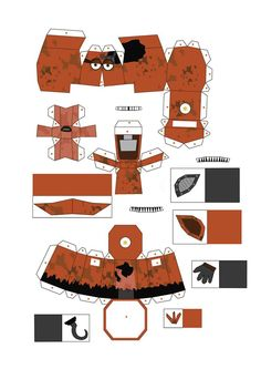 five nights at freddy's 2 old foxy papercraft pt 1 by Adogopaper