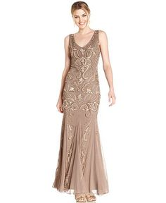 Patra Sleeveless Embellished Mermaid Gown - Dresses - Women - Macy's  @kmoffett06 really liking this one too!
