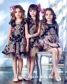 Every little princess should be privileged to own one of these amazing dresses. We adore Mischka Aoki brand, every dress is a Masterpiece of flowers Cute Little Girl Dresses, Beautiful Little Girls, Dresses Kids Girl, Kids Outfits Girls, Girl Outfits, Flower Girl Dresses, Toddler Outfits, Toddler Girls, Toddler Fashion
