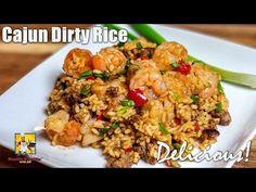 Cajun Dirty Rice   Dirty Rice - YouTube Cajun Dirty Rice Recipe, Cajun Rice, Cajun Recipes, Rice Recipes, Seafood Recipes, Cooking Recipes, Cajun Cooking, Cajun Food, Creole Recipes