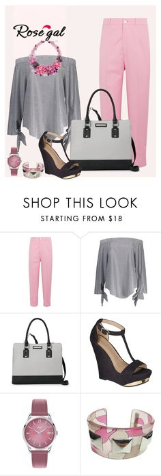 """chambray top"" by lilivals ❤ liked on Polyvore featuring Gucci, Nine West, Xhilaration, Henry London, Emilio Pucci and NOVICA"