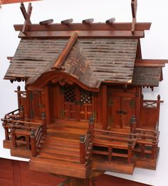 Meiji Period Shinto Shrine (Kamidana) | From a unique collection of antique and modern religious items at https://www.1stdibs.com/furniture/more-furniture-collectibles/religious-items/