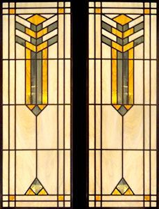 Zoom To Abstract Stained And Leaded Glass Door Window