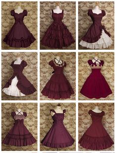 I can't get over red dresses! Pretty Outfits, Pretty Dresses, Beautiful Outfits, Cute Outfits, Set Fashion, Lolita Fashion, Fashion Design, Cosplay Outfits, Dress Outfits