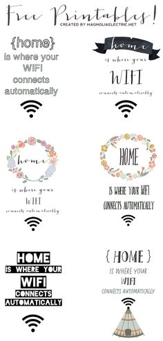 """Free """"home is where your wifi connects automatically"""" Printa... 
